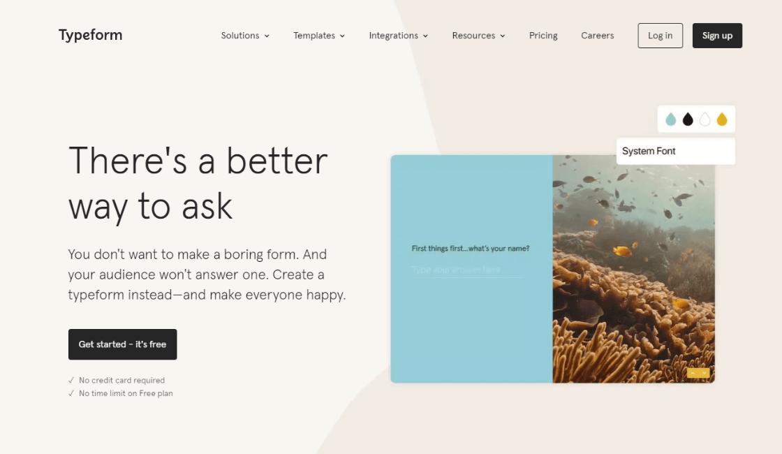 typeform entre las herramientas disponibles para crear una app